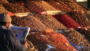 Marrakech - fruit and nut stall