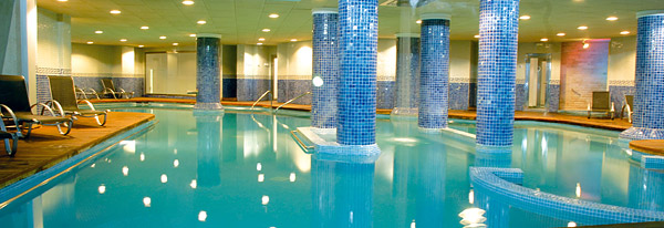 The indoor pool and spa circuit