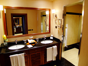 The luxurious bathrooms