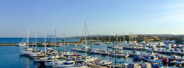 Sotogrande marina & the Rock of Gibraltar.