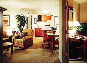 A typical Suite living room
