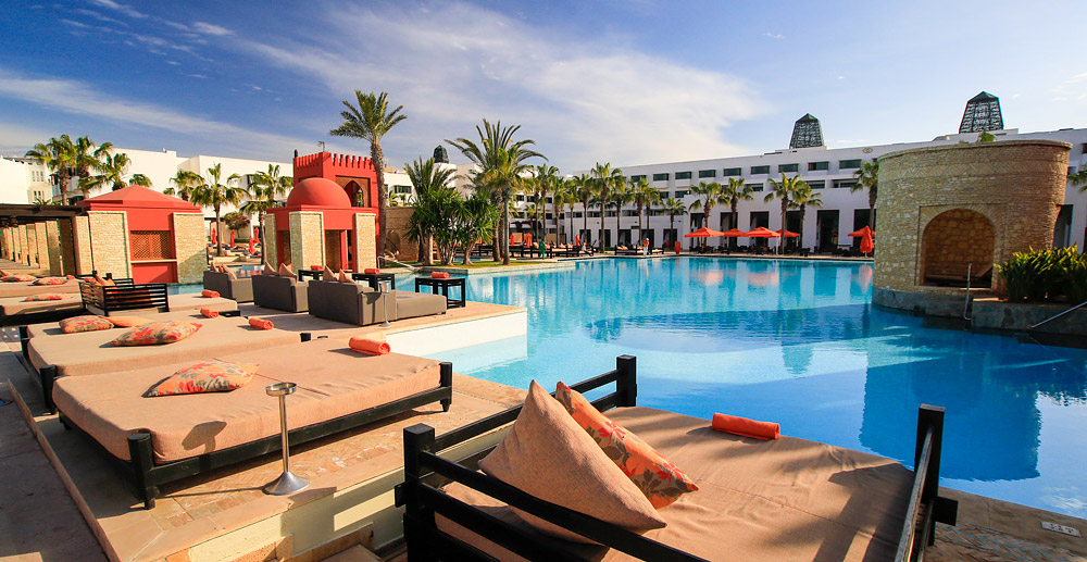 Beach From The Throbbing Heart Af Agadir Life Becomes Quieter And More Refined At This End Of You Will Find Mont S Luxury Hotels